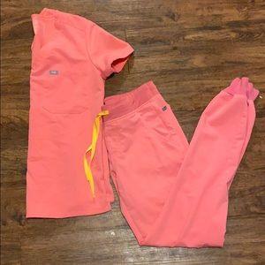 Figs Catarina Zamora jogger neon pink xs xst